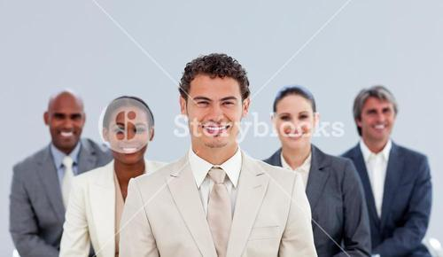 Portrait of a diverse business team