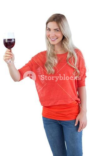 Woman with wine glass