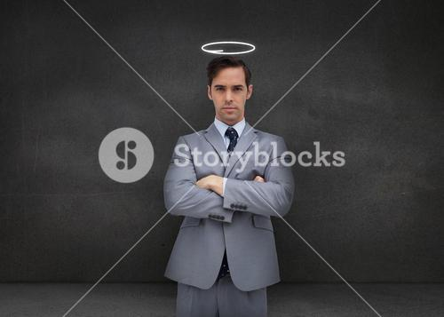 Businessman representing an angel