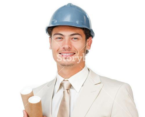 Charismatic young male architect