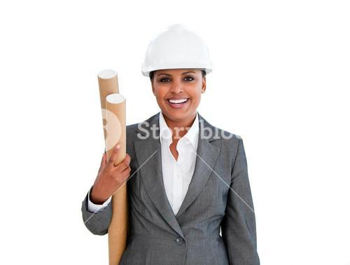Portrait of an female architect