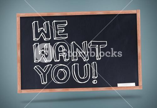 We want you written on chalkboard