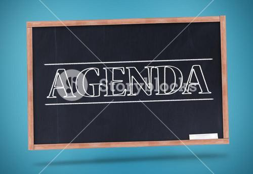 Agenda written in big capital letters