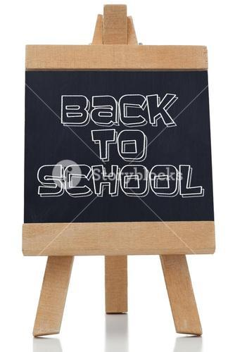 Back to school written in black on chalkboard