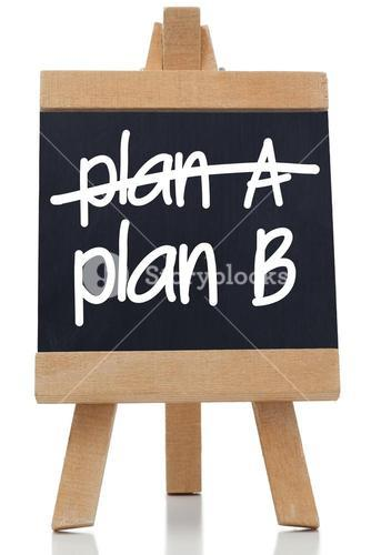 Plan A and Plan B written on chalkboard