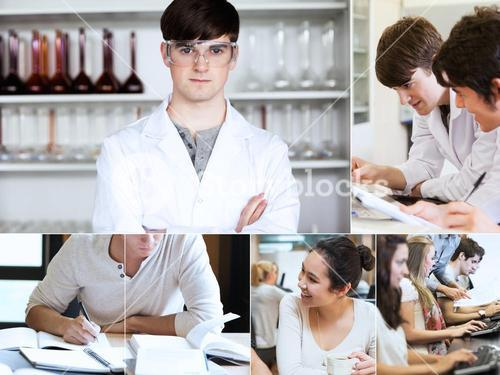 Collage of students during their lectures
