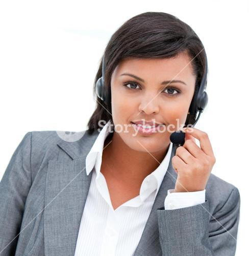 Portrait of an customer agent at work
