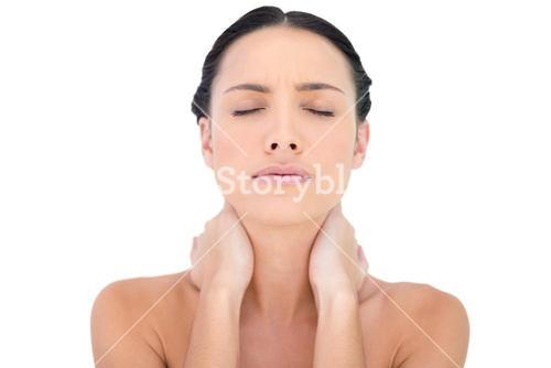 Natural beauty with a painful neck