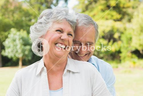 Happy mature couple laughing
