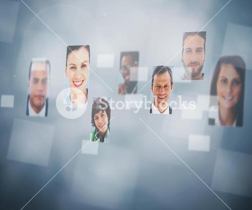 Digital interface showing profile pictures