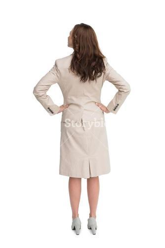 Rear view of businesswoman standing