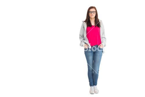 Trendy young woman posing
