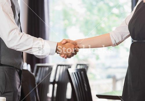 Business team shaking hands