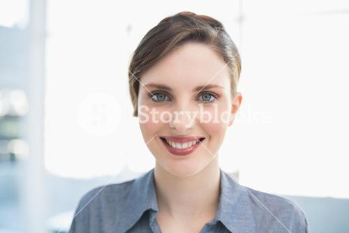 Portrait of gorgeous young businesswoman