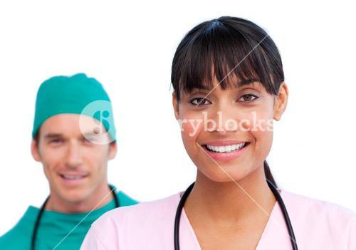 Two medical colleagues
