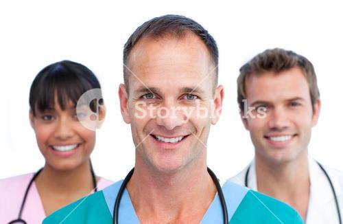 Three medical colleagues