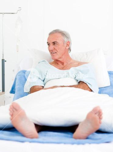 Portrait of a senior man at the hospital