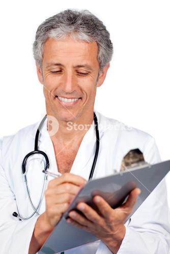 Doctor writting documents