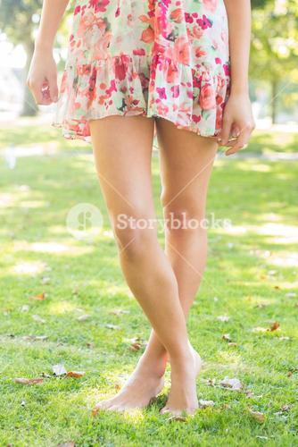 Picture of woman wearing floral dress