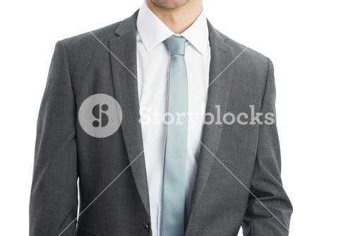 Mid section of businessman wearing suit
