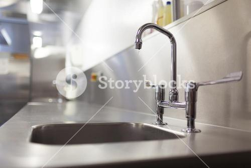 Picture of chrome sink and tap
