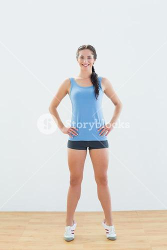 Full length of a woman tip toeing