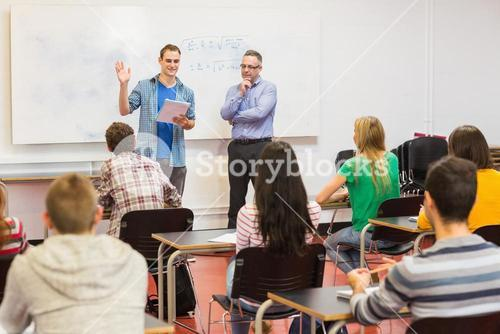 Teacher with students in the classroom