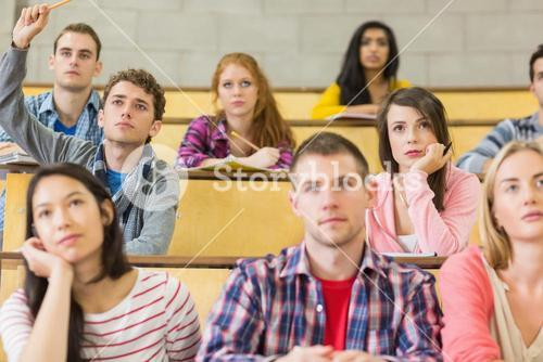 Students sitting at the lecture hall