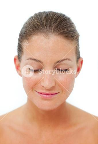 Relaxed woman after having a spa treatment