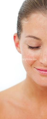 Smiling woman after having a spa treatment