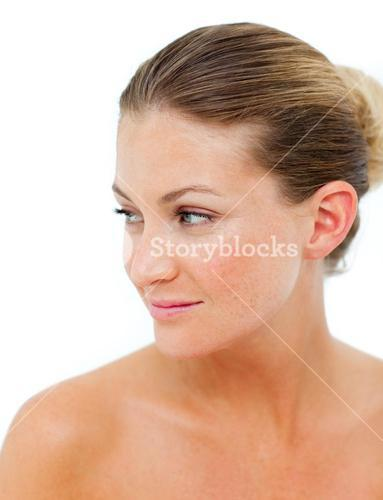 Positive woman after having a spa treatment