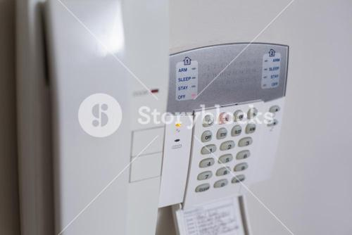 White wall mounted entry phone system
