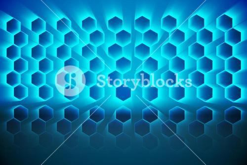 Black background with shiny hexagons