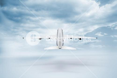 3D plane taking off