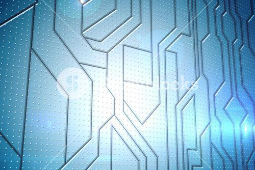 Circuit board on futuristic background
