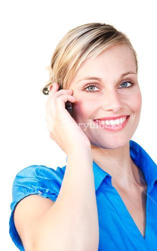 Portrait of a beautiful businesswoman on the phone