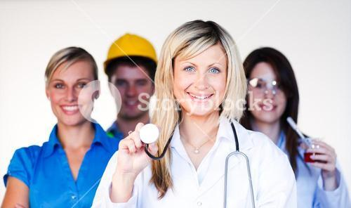 Multiprofession - Doctor, businesswoman, engineer and scientist