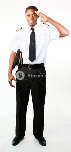 Full length photo of a pilot