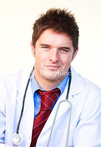 Portrait of a young doctor smiling at the camera