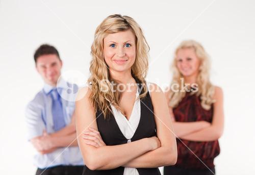 Female Business woman with arms Folded