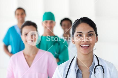 Female doctor smiling at the camera