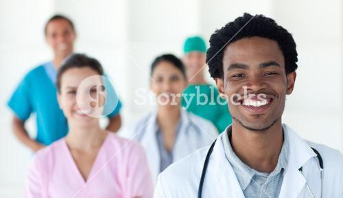 Medical people smiling at the camera