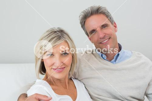 Portrait of a happy couple at home