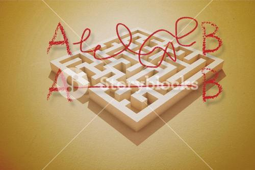 Line from a to b drawn over puzzle