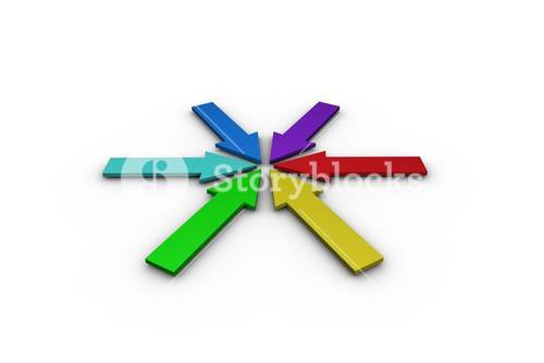Colorful arrows forming circle
