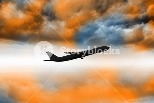 Airplane flying
