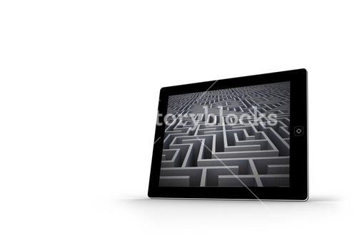 Maze on tablet screen
