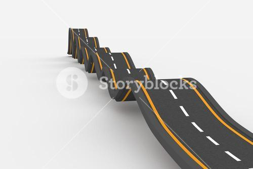 Bumpy road background