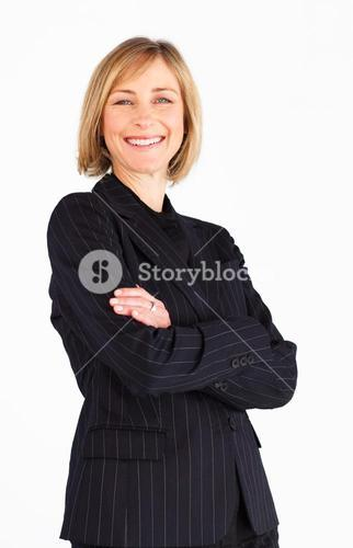 Beautiful businesswoman looking at the camera