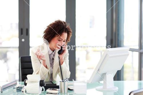 Attractive manager on the phone